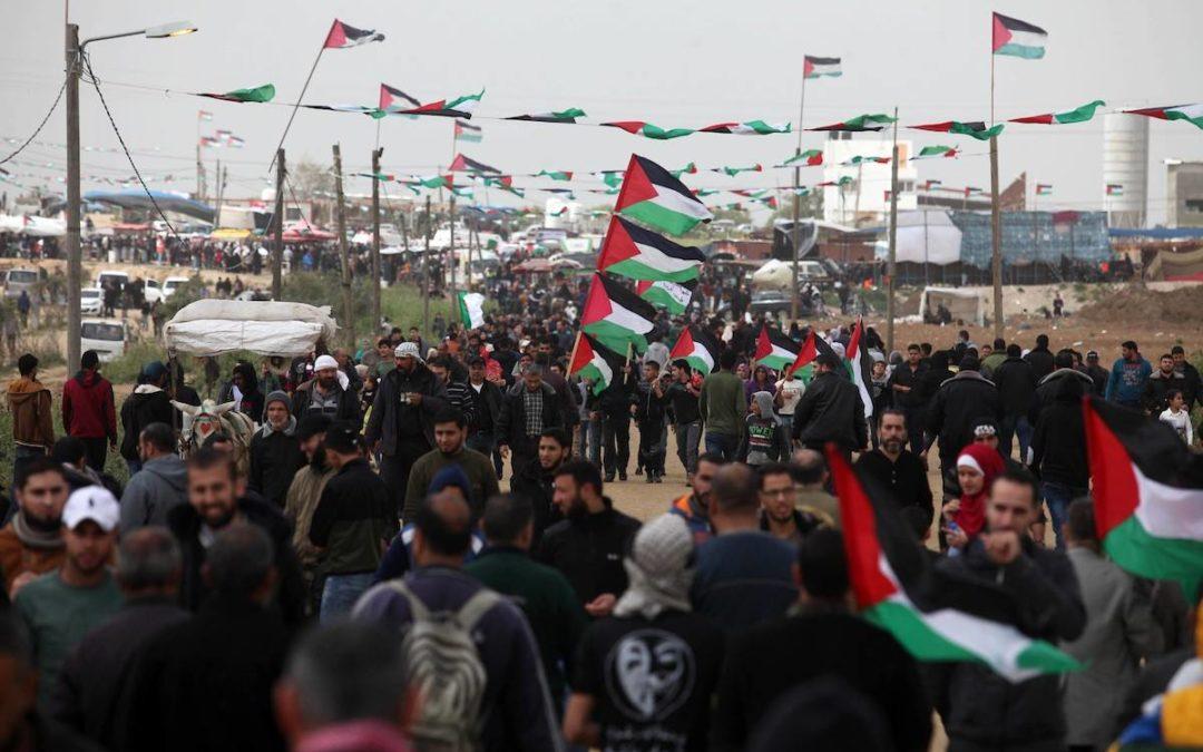 200.000 personnes manifestent à Gaza pour le premier anniversaire de la Grande Marche du Retour !
