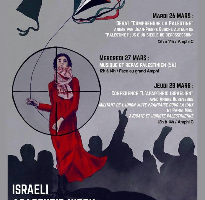 28 mars: Conférence-débat: «Israël institutionnalise le racisme»
