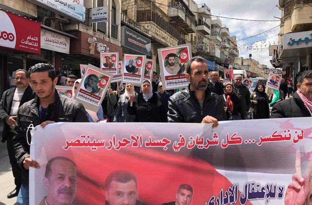 Six prisonniers palestiniens en grève de la faim contre la détention administrative !