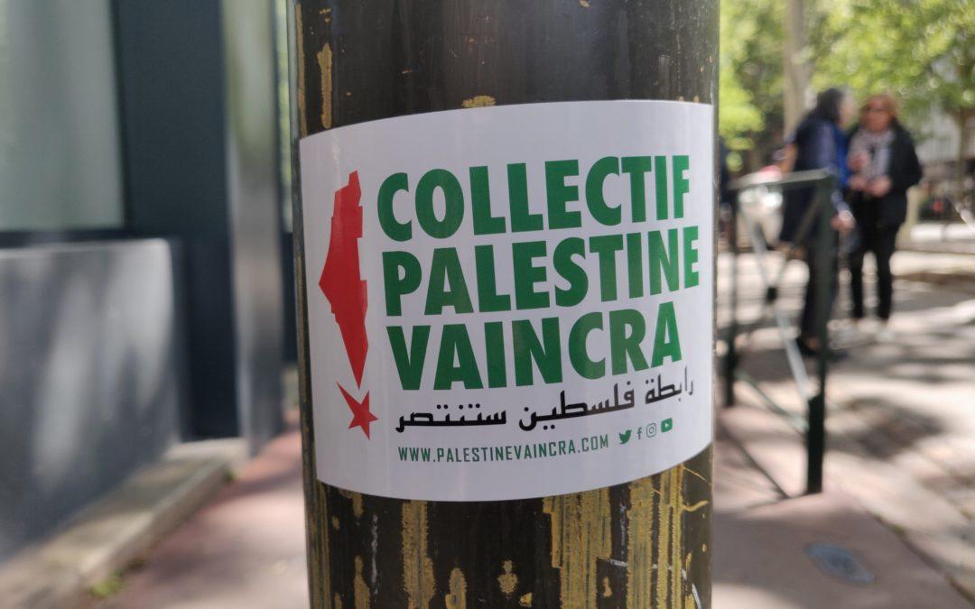 Le Collectif Palestine Vaincra dans la rue pour le 1er Mai !