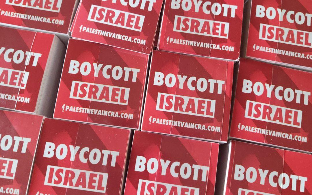 Autocollant «Boycott Israël»