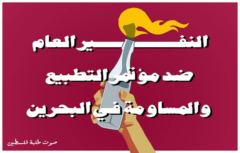 La Voix des Etudiants Palestiniens : Non à la Conférence de Bahreïn !