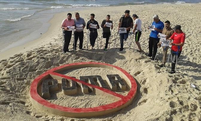 Stand d'info : Boycottons Puma, sponsor de l'apartheid israélien !
