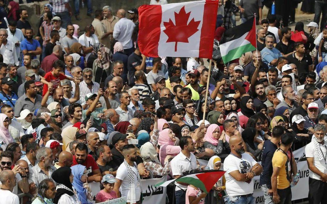 Un accord entre les USA et le Canada pour accueillir 100000réfugiés palestiniens du Liban?
