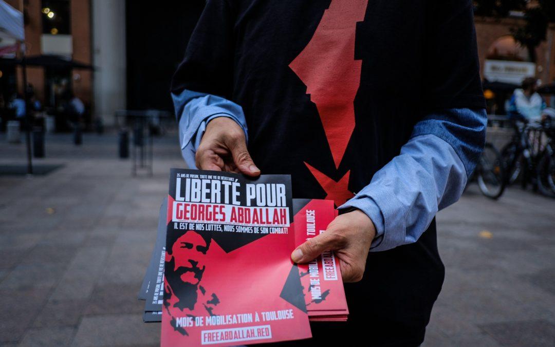 A Toulouse, le mois de mobilisation pour la libération de Georges Abdallah est lancé !