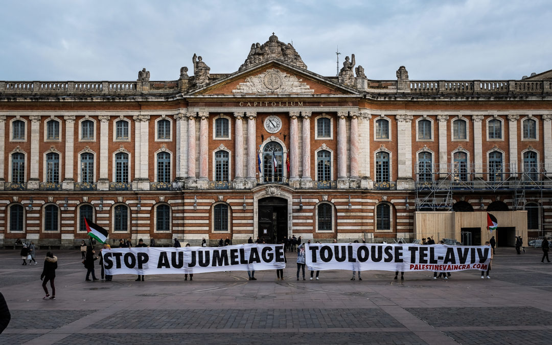 Stop au jumelage Toulouse Tel-Aviv ! La mairie de Toulouse ne doit plus soutenir l'apartheid israélien !