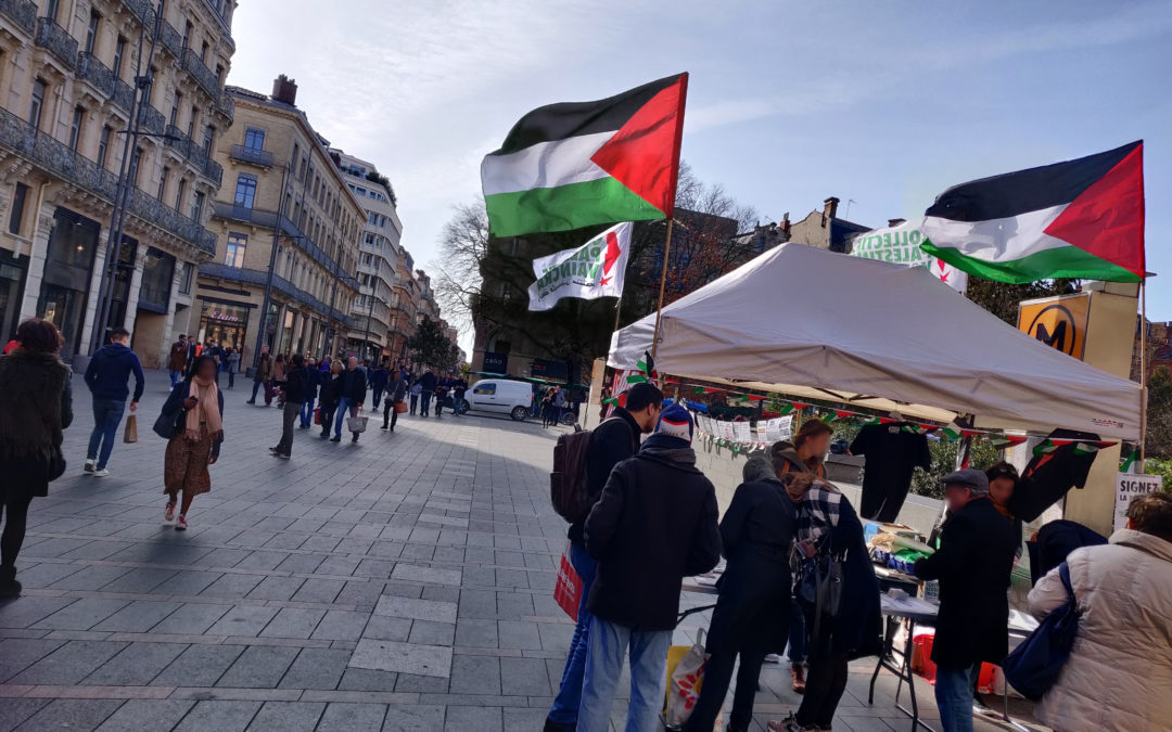 Un nouveau Stand Palestine contre le jumelage de Toulouse avec Tel-Aviv !