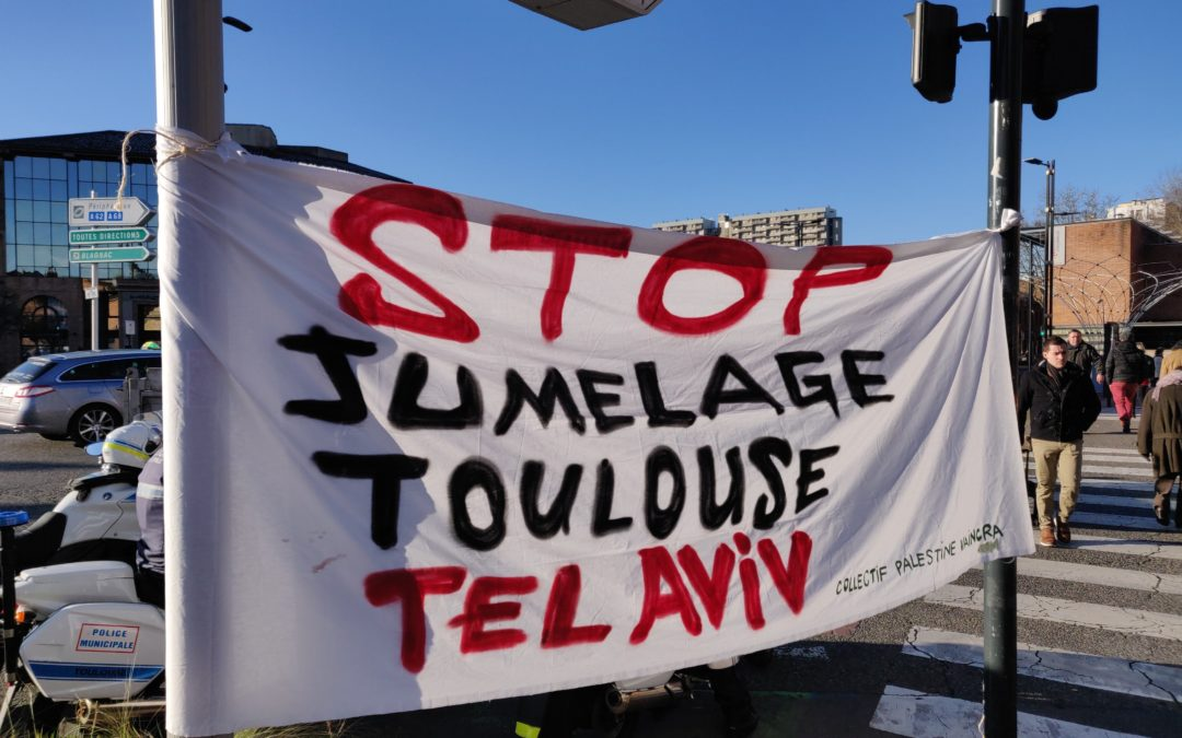 Plus de 3000 Toulousain·e·s disent non au jumelage de Toulouse avec Tel Aviv!
