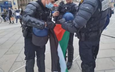 La Campagne BDS Montpellier continue de se mobiliser malgré la répression policière !