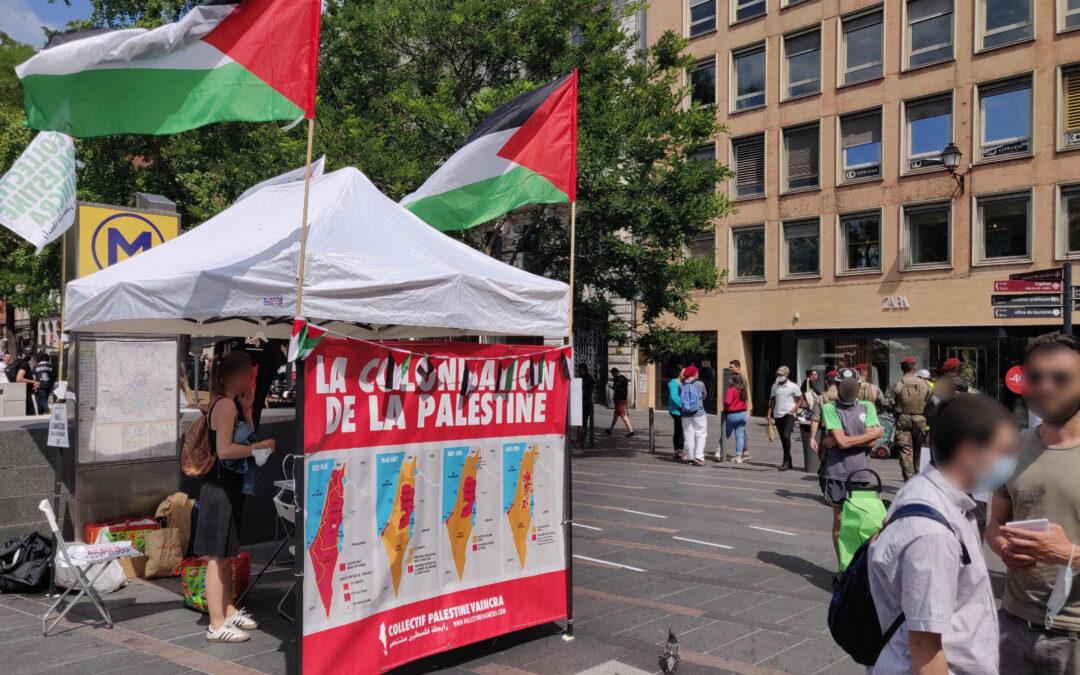 A Toulouse, un nouveau Stand Palestine en soutien au peuple palestinien contre la colonisation et l'apartheid !