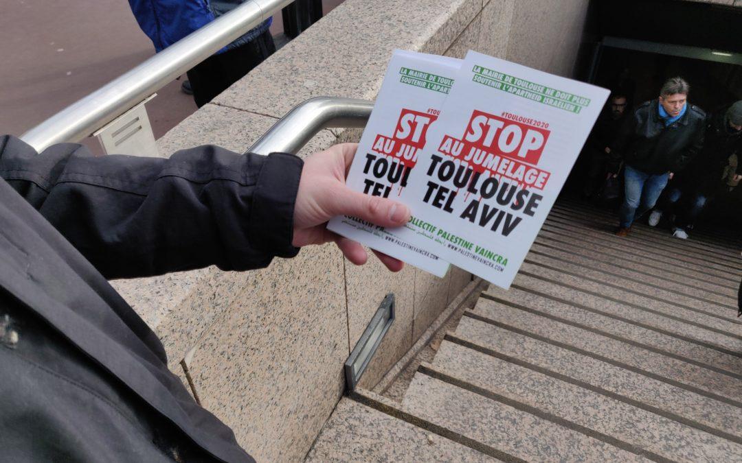 20 Juin : Stand Palestine « Stop au jumelage Toulouse Tel-Aviv ! »