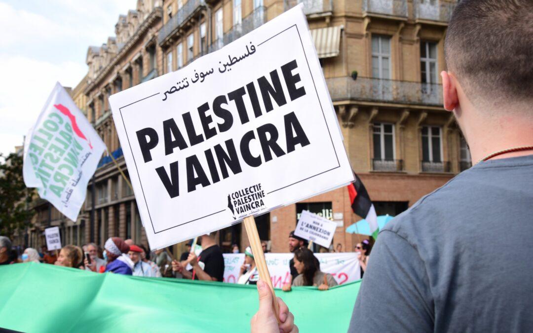 A Toulouse, des centaines de personnes se rassemblent contre le plan d'annexion de la Cisjordanie