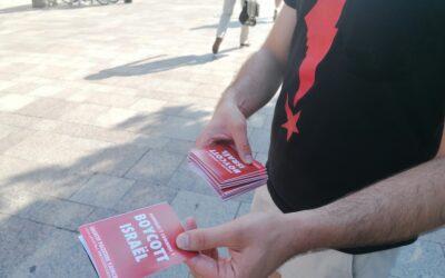 Un nouveau Stand Palestine pour le boycott d'Israël dans le centre-ville de Toulouse