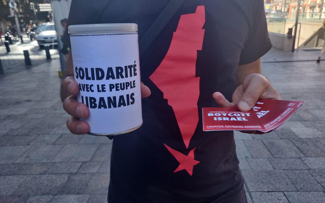 Un nouveau Stand Palestine à Toulouse en soutien au peuple libanais et à la résistance palestinienne !