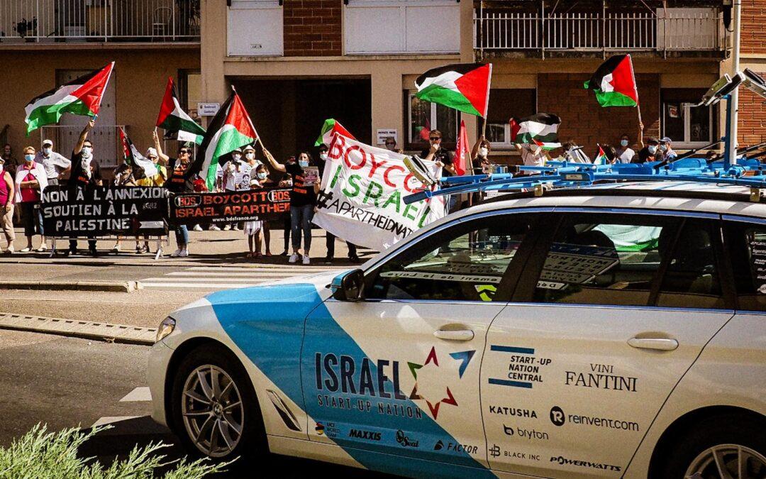 Sur les routes du Tour de France 2020, la Palestine était partout présente !