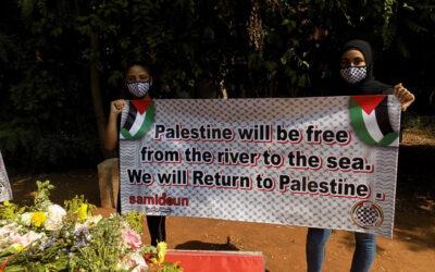 Les jeunes palestiniens du camp de Chatila lancent la semaine #Action4Return au mémorial de Sabra et Chatila
