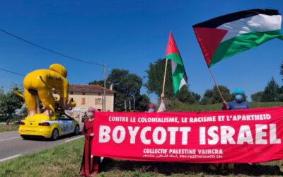 La Palestine au Tour de France contre les ambassadeurs de l'apartheid israélien