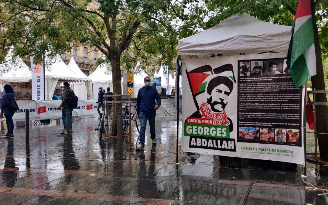 A Toulouse, un nouveau Stand Palestine pour la libération de Georges Abdallah