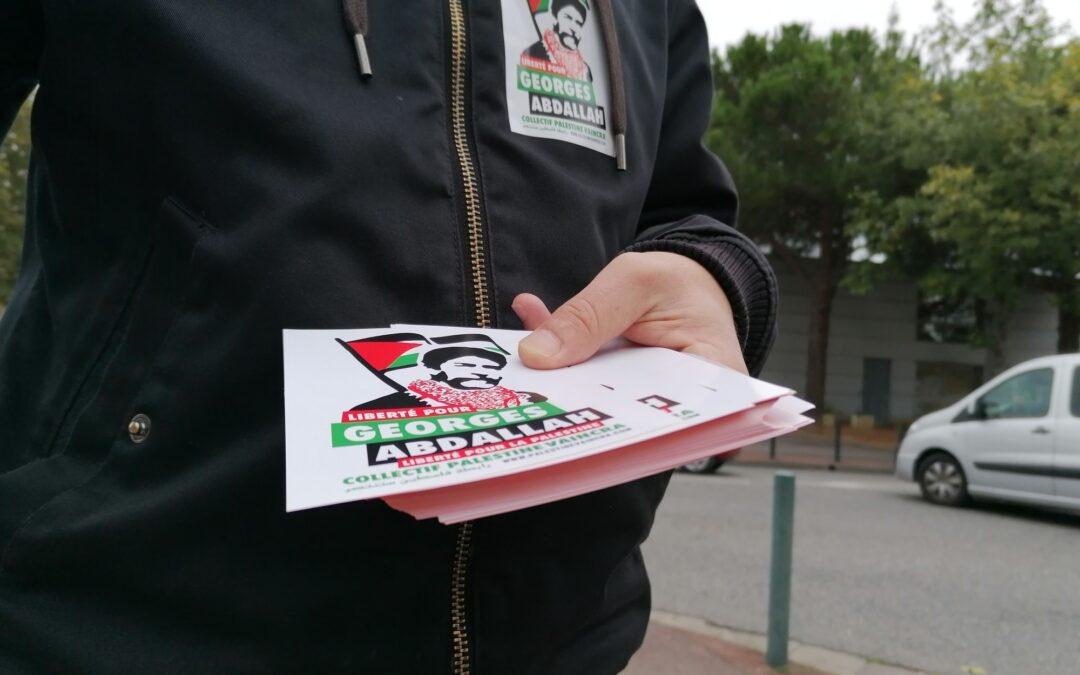 10 Octobre : Stand Palestine « Liberté pour Georges Abdallah ! »
