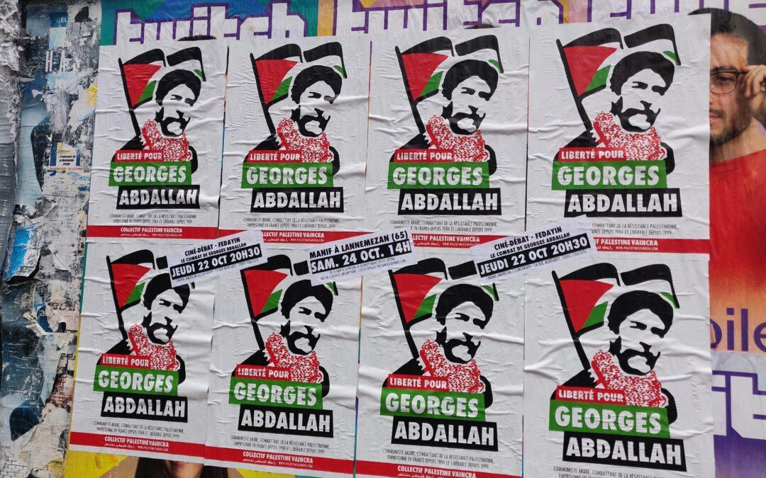 La mobilisation se développe partout pour la libération de Georges Abdallah !
