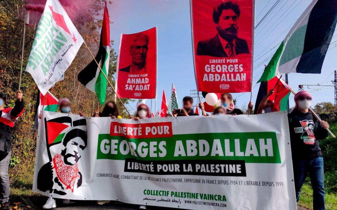Plus de 600 personnes devant la prison de Lannemezan pour la libération de Georges Abdallah !