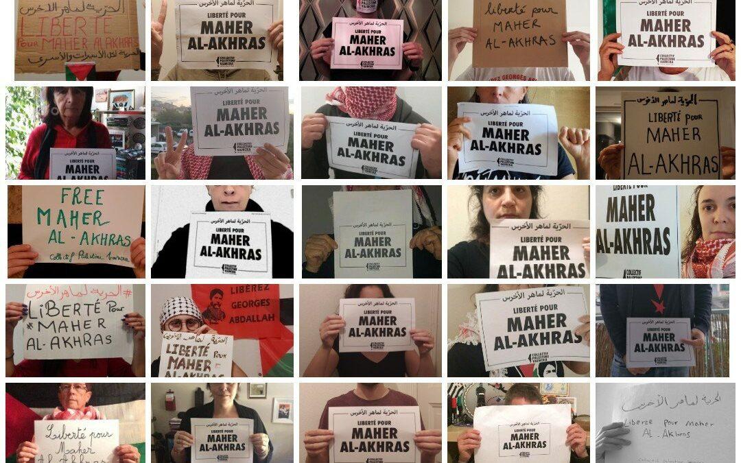 Plus de 100 jours de grève de la faim : intensifions la campagne pour la libération de Maher al-Akhras !