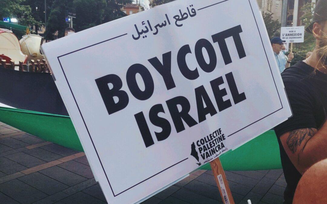 Pendant le confinement, intensifions le boycott d'Israël !