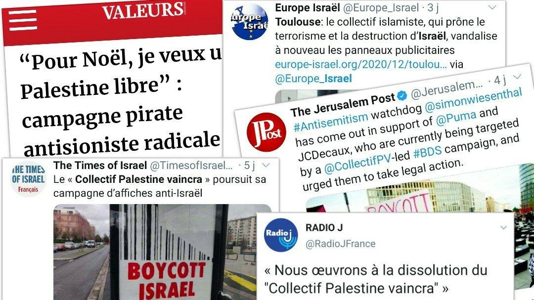 La campagne a été relayée par tout ce que compte l'extrême droite pro-israélienne comme site «d'informations»