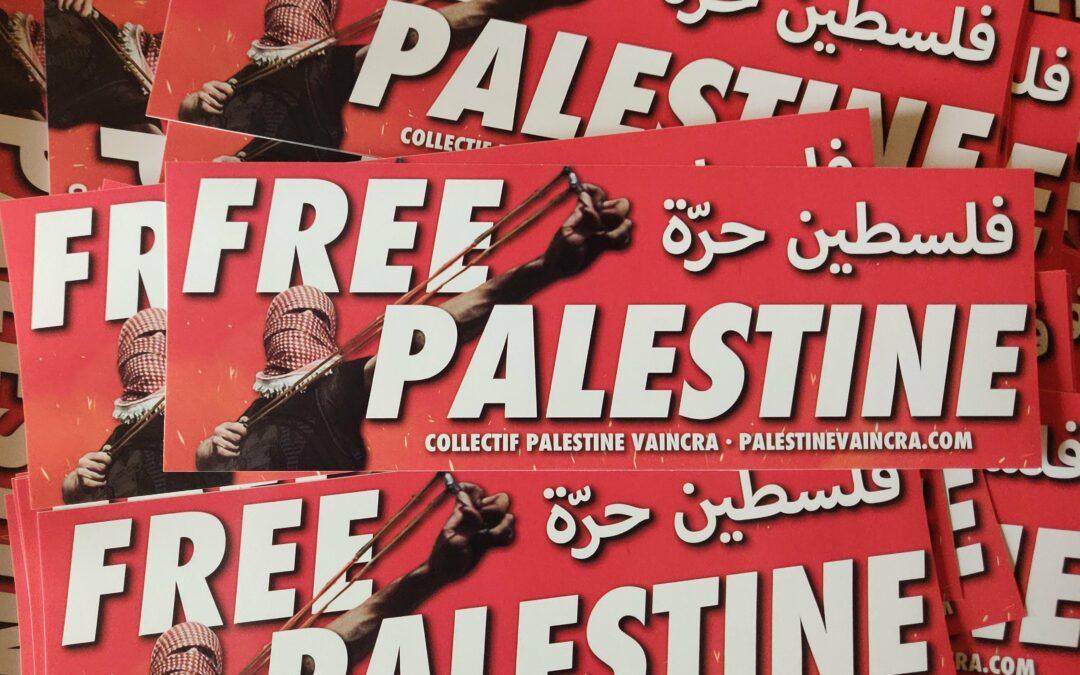 Autocollant «Free Palestine»