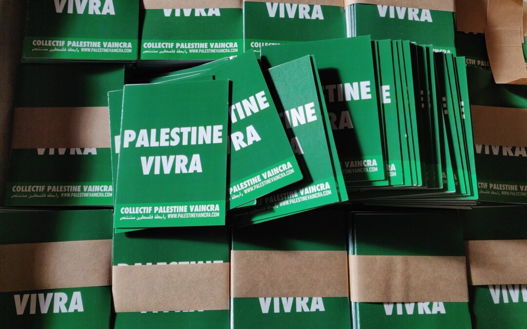 Dépliant : «Palestine vivra»