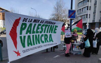 Dans le quartier de Bagatelle à Toulouse, nouvelle initiative de solidarité avec la Palestine !