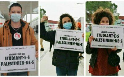 Les étudiant·e·s de l'Université Toulouse Jean Jaurès solidaires avec les étudiant·e·s palestinien·ne·s emprisonné·e·s !