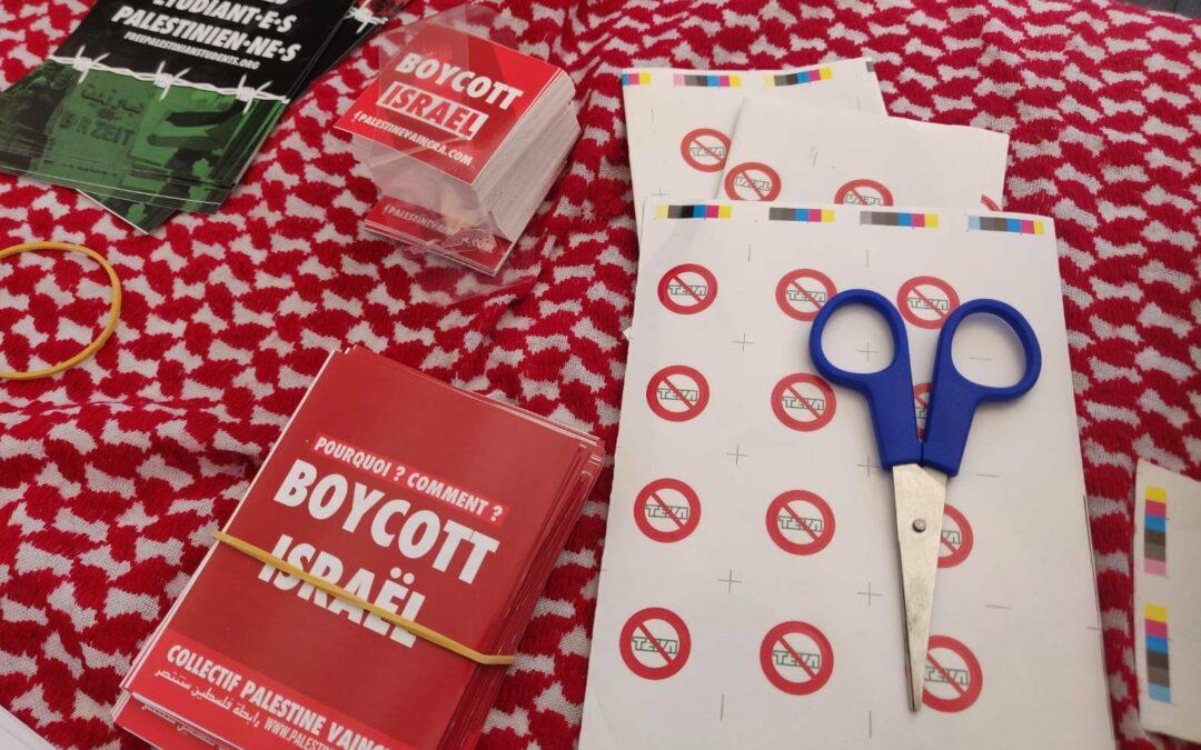 24 Avril : Stand Palestine «Boycott Teva, boycott Israël»