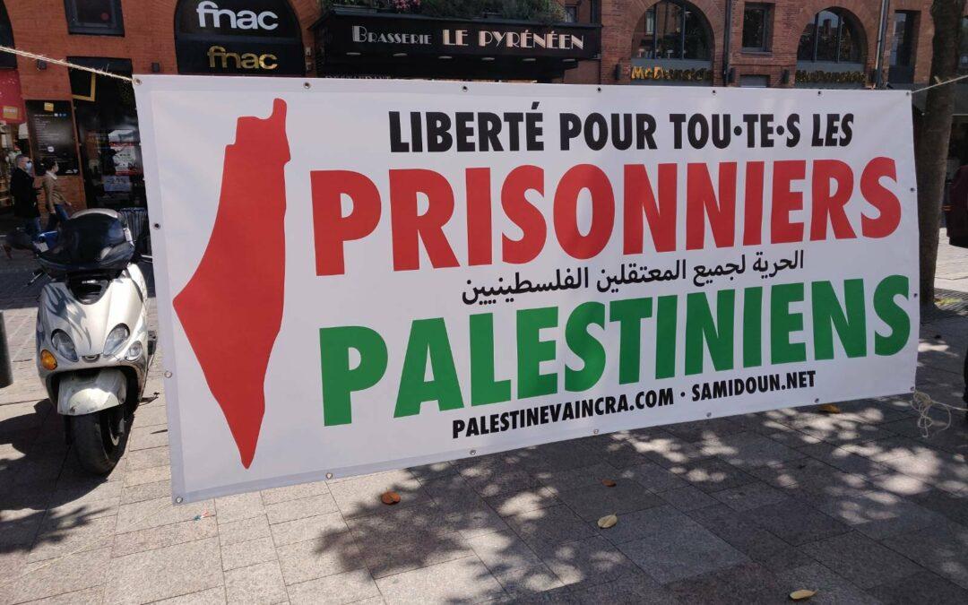 A Toulouse, un Stand Palestine pour la libération de tou·te·s les prisonniers palestiniens