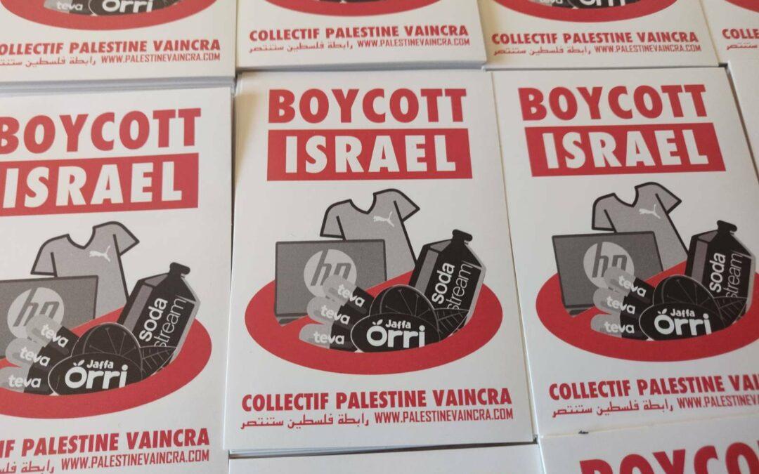 Autocollant «Boycott Israël» (A7)