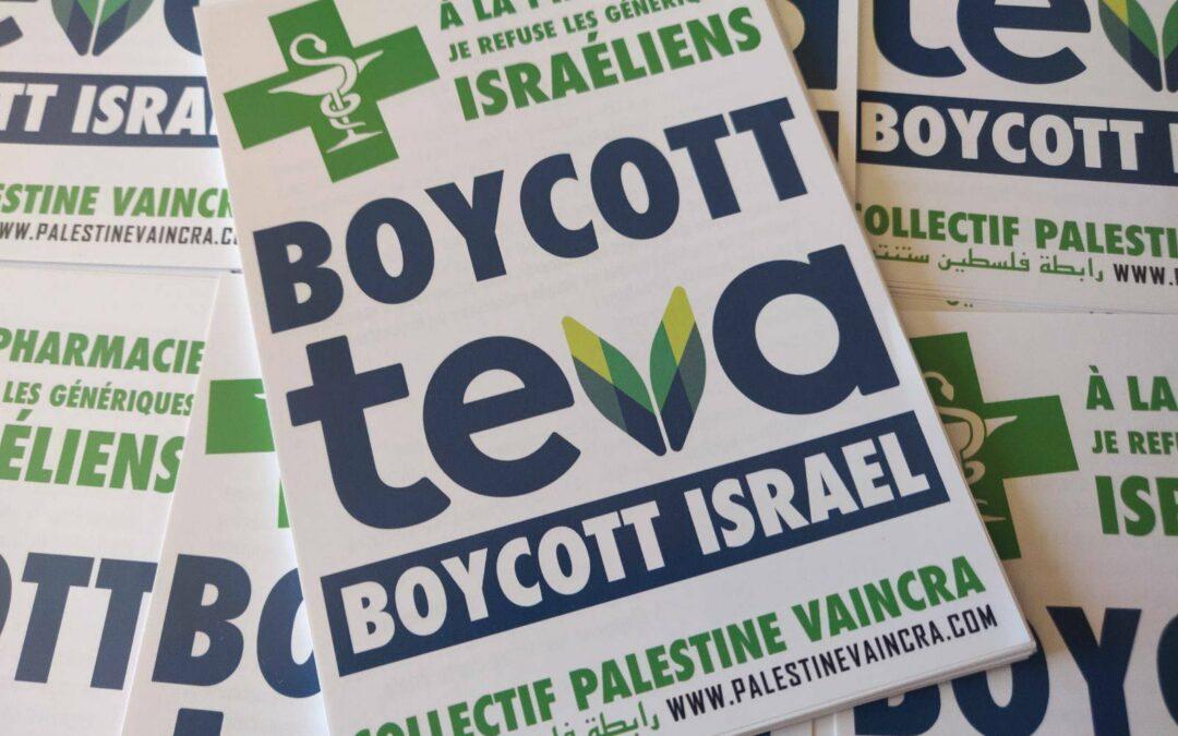 Flyers : «Boycott Teva, boycott Israël»