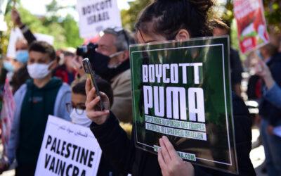 23 Juillet : Stand Palestine «Boycott PUMA, boycott Israël»