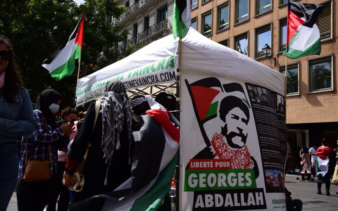 Au Stand Palestine à Toulouse, beaucoup de monde pour la libération de Georges Abdallah
