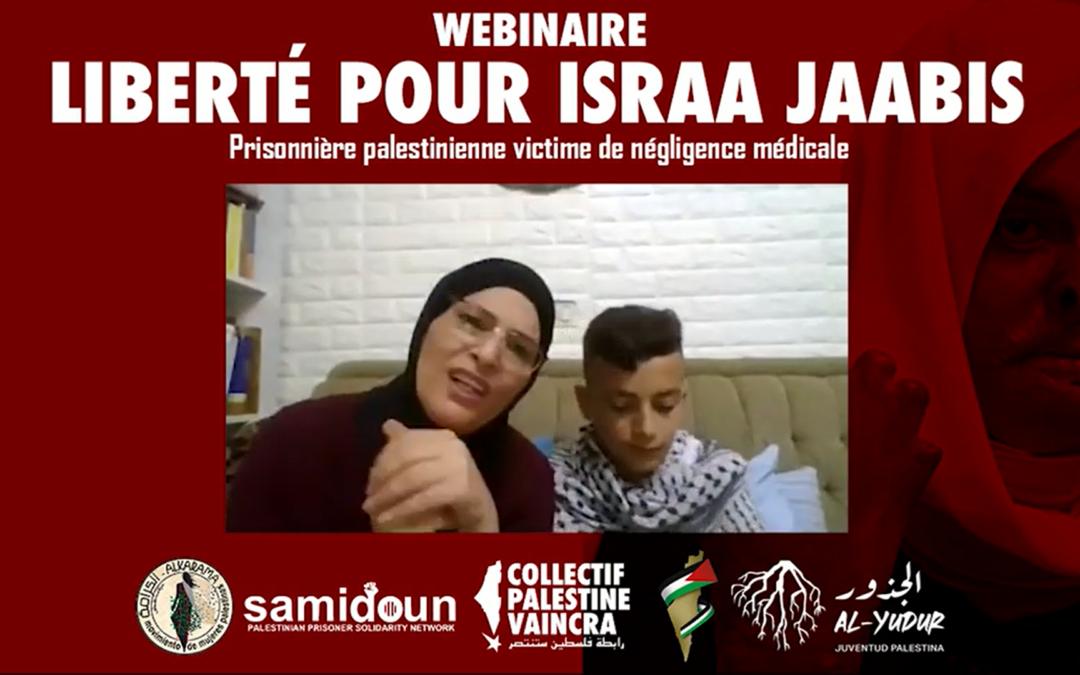 Webinaire «Liberté pour Israa Jaabis, prisonnière palestinienne victime de négligence médicale»