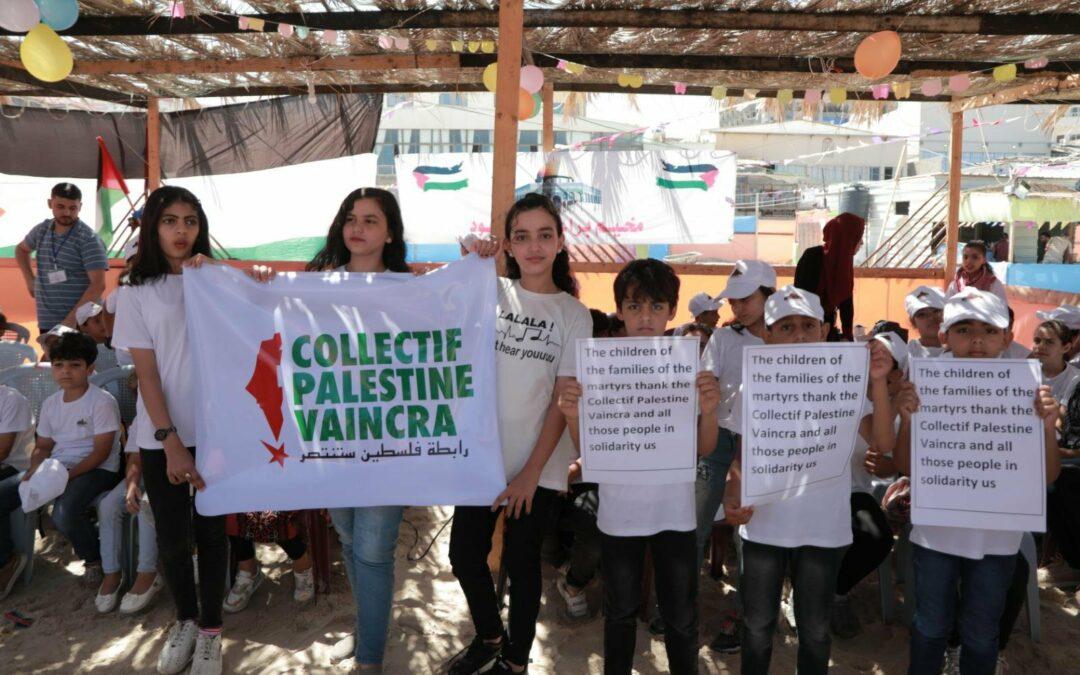 Le Collectif Palestine Vaincra a collecté 6000€ pour organiser des vacances à des enfants de Gaza