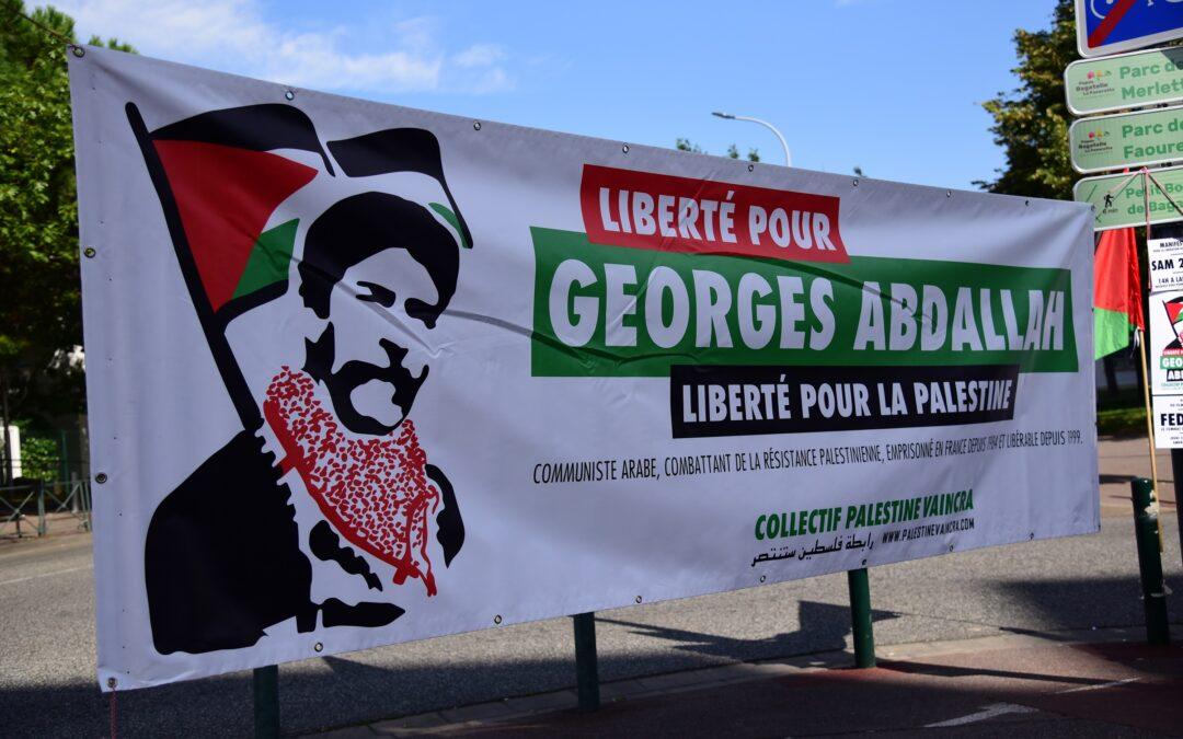 Samedi 2 octobre : Stand Palestine « Liberté pour Georges Abdallah ! »