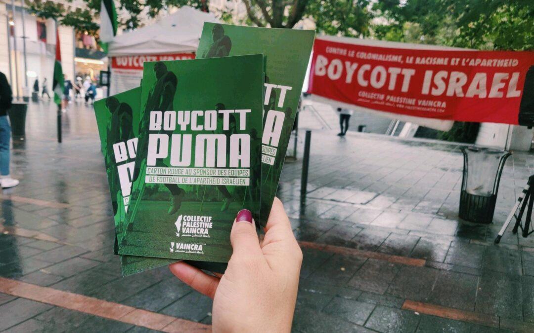 Succès de la cinquième journée internationale de la campagne #BoycottPuma