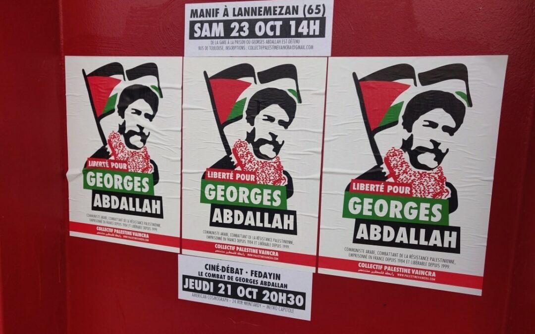 A Toulouse, la mobilisation pour la libération de Georges Abdallah se développe : rejoignez-nous !