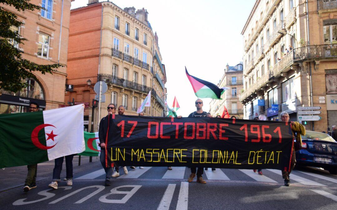 A Toulouse, 200 personnes commémorent le massacre colonial du 17 octobre 1961 organisée par la République française