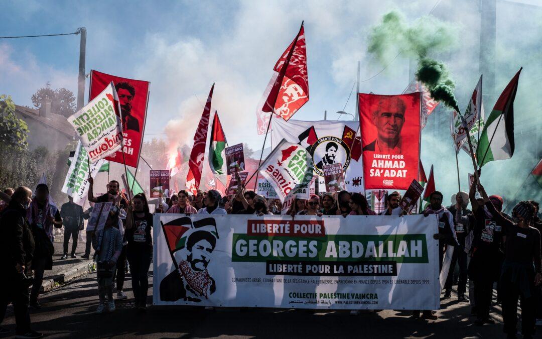 Plus de 1000 personnes manifestent à Lannemezan pour exiger la libération immédiate de Georges Abdallah