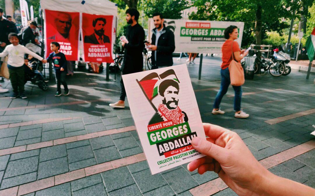 Dimanche 10 octobre : Stand Palestine « Liberté pour Georges Abdallah ! »